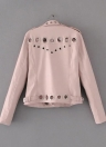 Fashion Hollow Out Leather Slim Hole Short Coat Women's Jacket