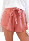 Moda elástica cintura alta pantalones cortos Bowknot Sash mujeres pantalones cortos