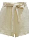 Fashion  Elastic High Waist Shorts Bowknot Sash Women's Shorts