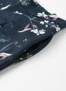 Mode imprimé floral haute taille poches latérales Zipper Slim Shorts femme