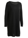 Vintage Knitted Straight  Solid Dropped Long Sleeve Round Neck Women's Dress