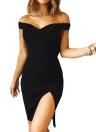 Женщины от плеча Сексуальная элегантная вечеринка Clubwear Mini Dress