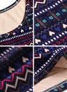 Винтаж женщин печатных мини платье