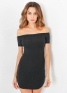 Sexy Off Shoulder Solid Short Sleeves Mini Women's Bodycon Dress