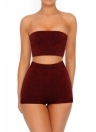 Sexy Women Backless Bodycon Two Pieces Set