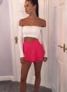 Moda mini plisado capa A-Line alta falda de partido de cintura