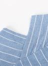 Women Striped V Neck Button Front Asymmetric Hem   Loose Blouse