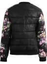 Winter Frauen Blumendruck gesteppte Langarm Baumwolle gefütterte Jacke Mantel