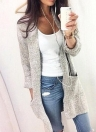Fashion Women Autumn Solid Loose Kitted Sweater  Cardigan
