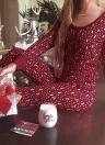 Новогодние женщины из двух частей Pajama Set Sleepwear олени Распечатать Polka Dot Long Sleeves Nightwear