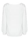 Camicetta allentata delle donne Pullover casuali del pullover del manicotto del raglan lungo di colore solido dell'increspatura