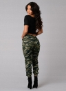 Mode Frauen Camouflage Print elastische Taille beiläufige lange Hosen