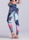 Женщины Спорт Йога Леггинсы Контраст Цвет Блок растяжения Фитнес-зал Запуск Bodycon Брюки