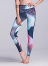Femmes Sport Yoga Leggings Contraste Couleur Bloc Stretch Fitness Gym Running Pantalon Moulante