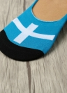 1 paire No Show Flag Print Invisible Silicon Heel Non Slip Boat Loafer Socks