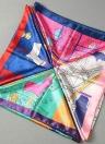 New Fashion Square Femmes Foulard Amusement Park Imprimer Bandeau Kerchief Chic Châle Pashmina
