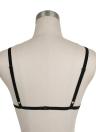 Femmes Sexy Sheer Strappy Lace Bra Cage Bralette évider élastique Lingerie Underwear Crop Top Noir