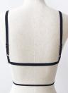 Non imbottito in pizzo elastico Bralette cinghie nuove donne sexy Crop Solid Top Bustier Bra Camis Nero / Bianco