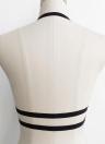 Женщины Strappy Eyelash Elastic Wireless Unpadded Sheer Bikini Lace Bra Set
