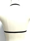 Сексуальное женское белье Бюстгальтер для бюстгальтера Body Cage Упругий ремень Бикини Подпочечный пояс Эротический безлистный Bralette Top Black