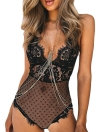 Sexy Halter Mulheres sem fio Lace Sheer One Piece das Intimate