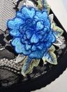 Women Lace Cage Floral Embroidery Applique Halter Choker Elastic Bra