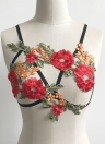 Sexy Lingerie Embroidery Bondage  Cupless Women's Bra