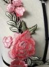 Cuello floral atractivo del halter del bordado Ningún sujetador Strappy de las mujeres del vendaje de la taza