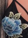 Sexy Floral Bordado trappy Transparente Cup Women's Lace Bra