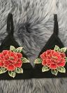 Сексуальная цветочная вышивка Sheer Mesh Bralette Прозрачная чашка для женщин