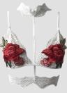 Сексуальная стриптизная цветочная вышитая кружевная эластичная клетчатая женская бельё