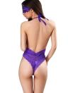 Sexy Femmes Lingerie Sheer Dentelle Halter Profonde V Cou Élastique Jumpsuit Erotic Sleepwear