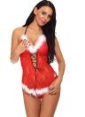 Sexy Women Christmas Sheer Lace Bodycon Lingerie Roupa de dormir