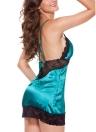 Женские атласные накладки Set Lace Trim V Шея Крест Backless