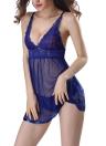 Women Lingerie Dress Sheer Lace  Briefs Babydoll Underwear Sleepwear Nightdress