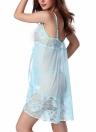 Frauen Dessous Kleid Sheer Lace Mesh G-String Babydoll Unterwäsche Nachtwäsche Nachthemd
