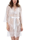 Sexy Femmes Lingerie Sheer Lace Sleepwear Set