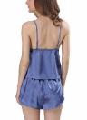 Conjunto de pijamas de satén de seda para mujer Conjunto de pijamas de Cami Top Conjunto de pijamas de dormir PJ