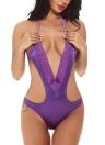 Spitze tief V-Ausschnitt Teddy Bodysuit Erotische Dessous