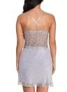 Lace Deep V Neck Erotic Babydoll Lingerie Dress