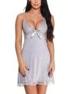 Spitze tief V-Ausschnitt Erotische Babydoll Dessous Dress