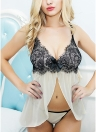 Lace Mesh Backless Sleeveless Erotic Nightwear