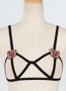 Femmes Lingerie Bandage Soutien-gorge Broderie Bustier Bralette Élastique Cage Erotique Camis Gilet