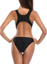 Cut out Lace Up Solid Racer One Piece Swimsuit
