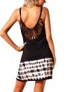Mulheres Summer Cover Ups Strappy Back Tie Dye Backless Bikini Cover Beachwear