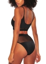 Costumi da bagno donna Bikini a rete a vita alta costume da bagno senza fili costumi da bagno a due pezzi