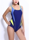 Sport Push Up Open Back Cut Out Treinamento profissional One Piece Swimsuit