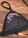 Bikini ricamato floreale delle donne stabilito costume da bagno della spiaggia del costume da bagno della vita alta Swimwear
