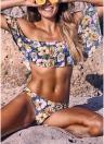 Completo bikini imbottito push up imbottito floreale