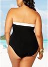 Plus Size Farbe Splice ausgeschnittene Bademode einteiliger Bikini